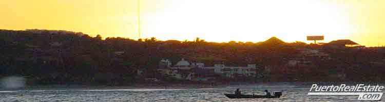 Sunrise fishing boat