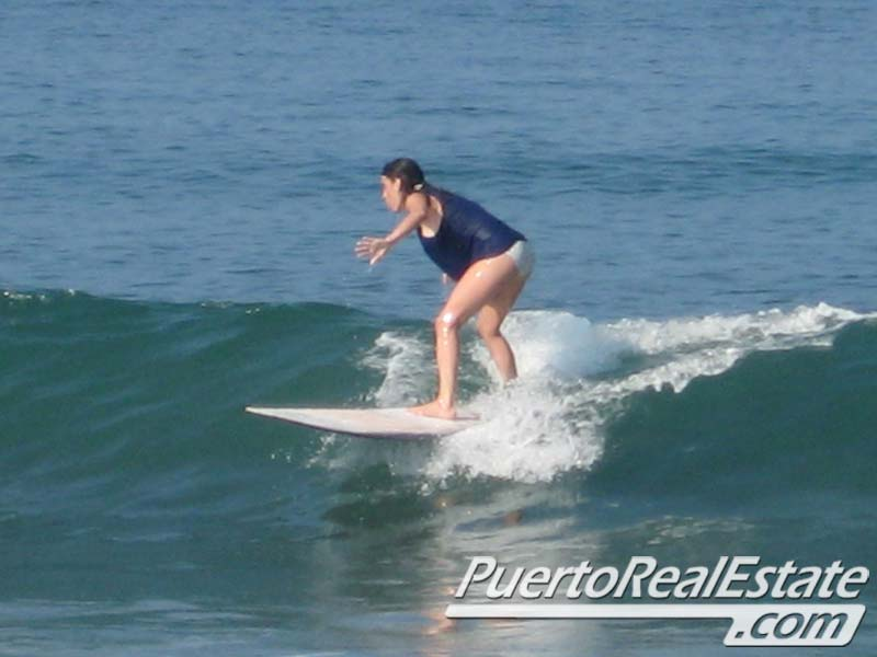 Beginner surfer